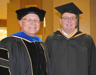 Dr. David Dees, dean, with Robert Conrad, keynote speaker