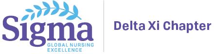 Sigma, Delta Xi Chapter logo