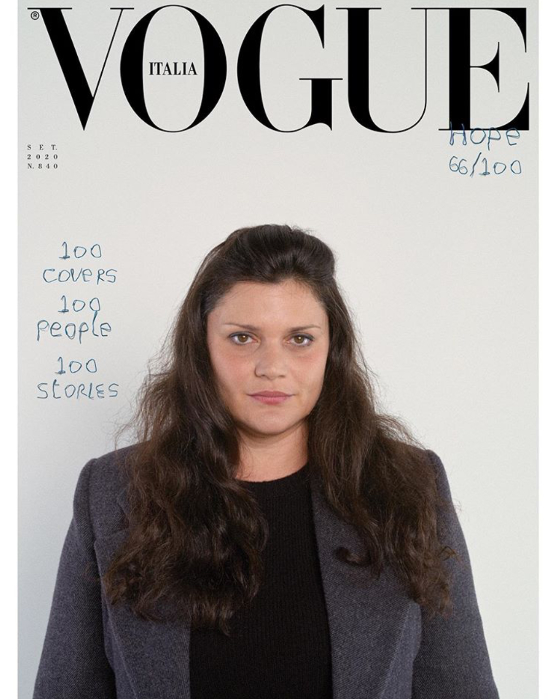Vogue Italia cover featuring Diana Al-Hadid