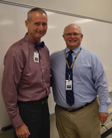 Dr. Dankovich with Dr. David Dees, dean and CAO of the Kent State Columbiana County campuses
