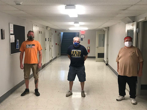 The custodial and maintenance employees from the Kent State East Liverpool Campus
