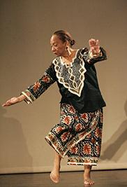 African dance choreographer and scholar Kariamu Welsh, D.A.