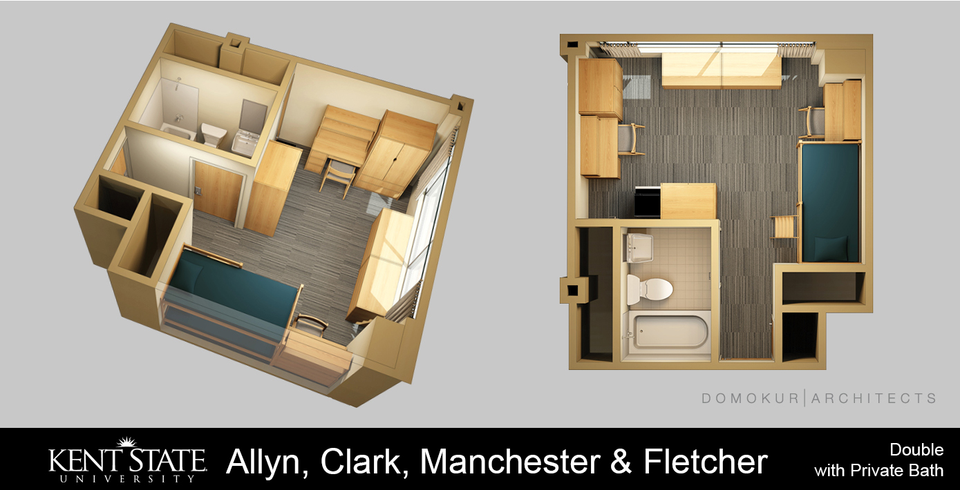 Allyn, Clark, Manchester, and Fletcher double with private bath
