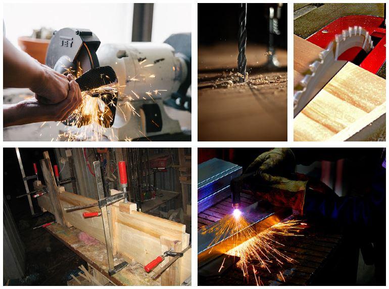 FabLAB equipment collage