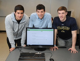 Photo of Kent State students who created SimpleWash app