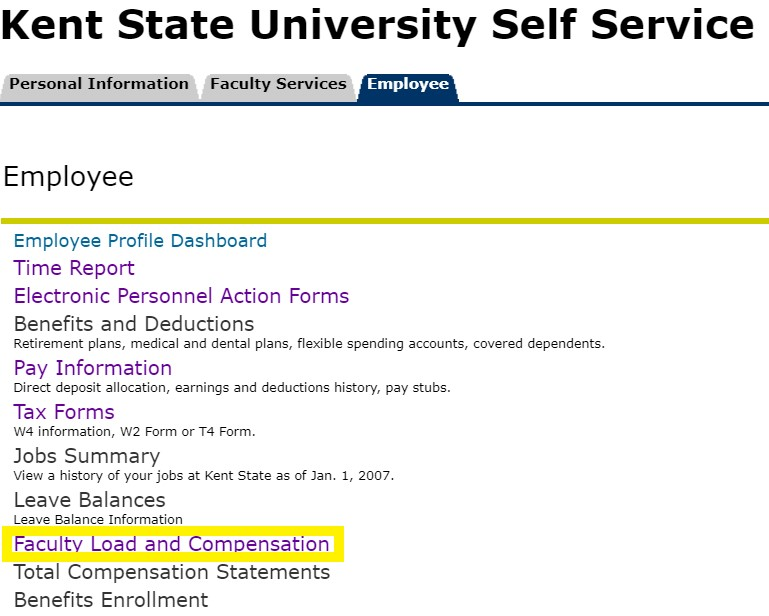 Step 4 Faculty Load and Compensation Screenshot