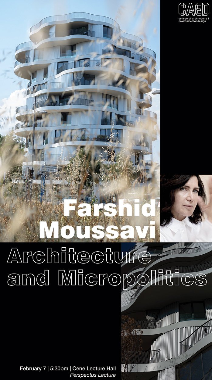 Farshed Moussavi poster