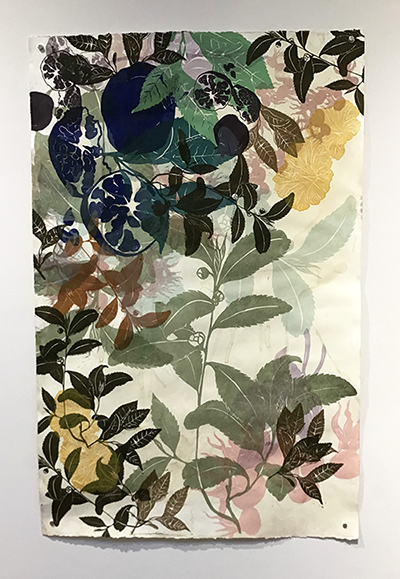 Gallery Director's Award - Claire Bowman, Unfolded II, linocut, serigraphy, Graduate