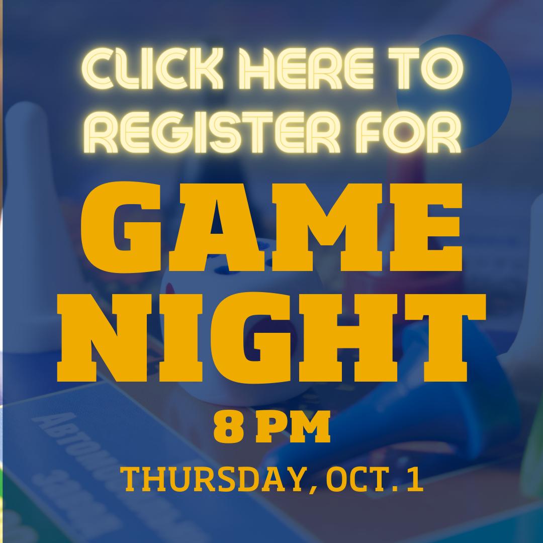 Register for Game Night