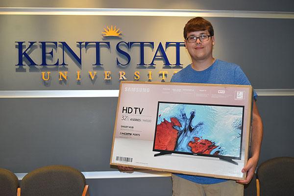 Gavin Whitman with his smart TV
