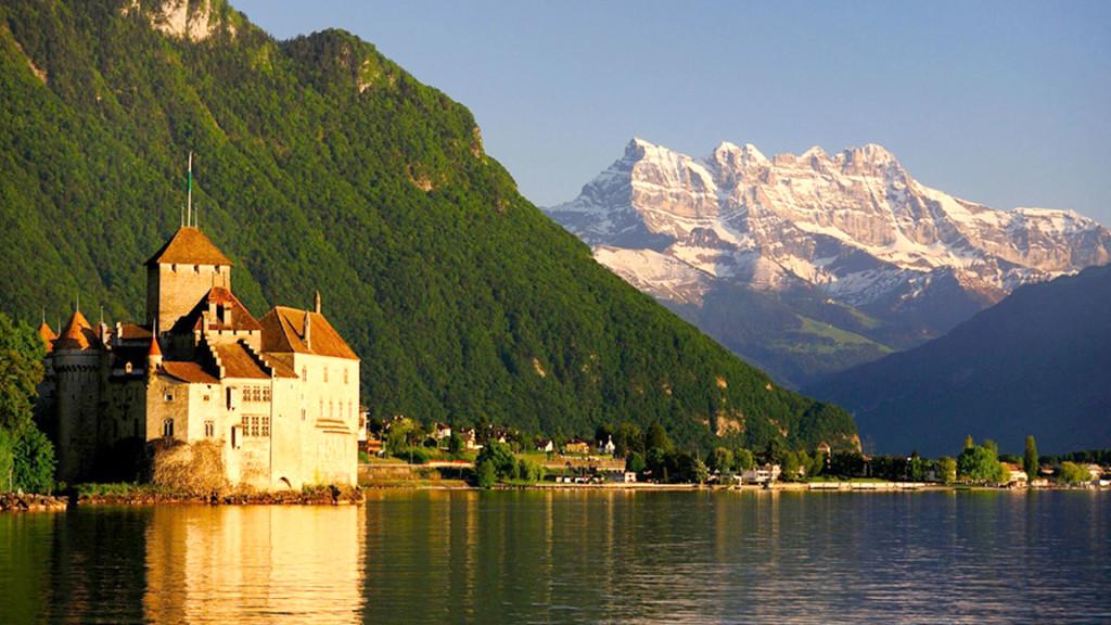 Geneva and the Alps
