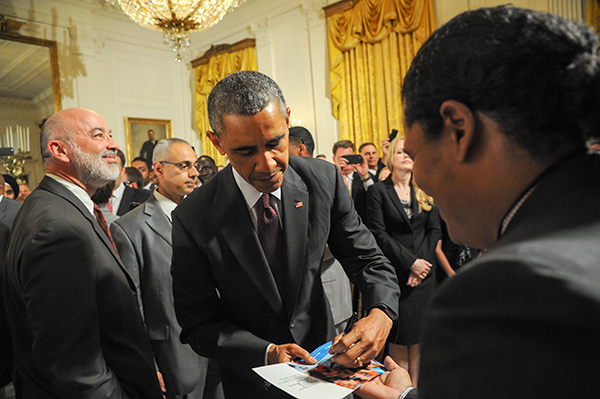 Georgio Sabino III meeting Barack Obama