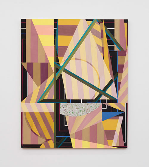 Gianna Commito, Stroup, 2016, casein and marble dust ground on panel, 36 x 30 inches