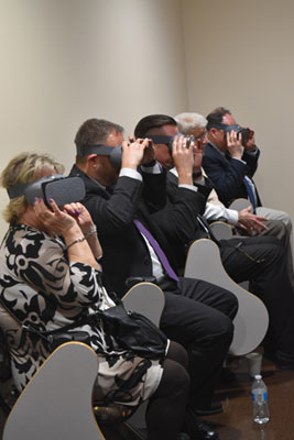 Guests experiencing virtual reality