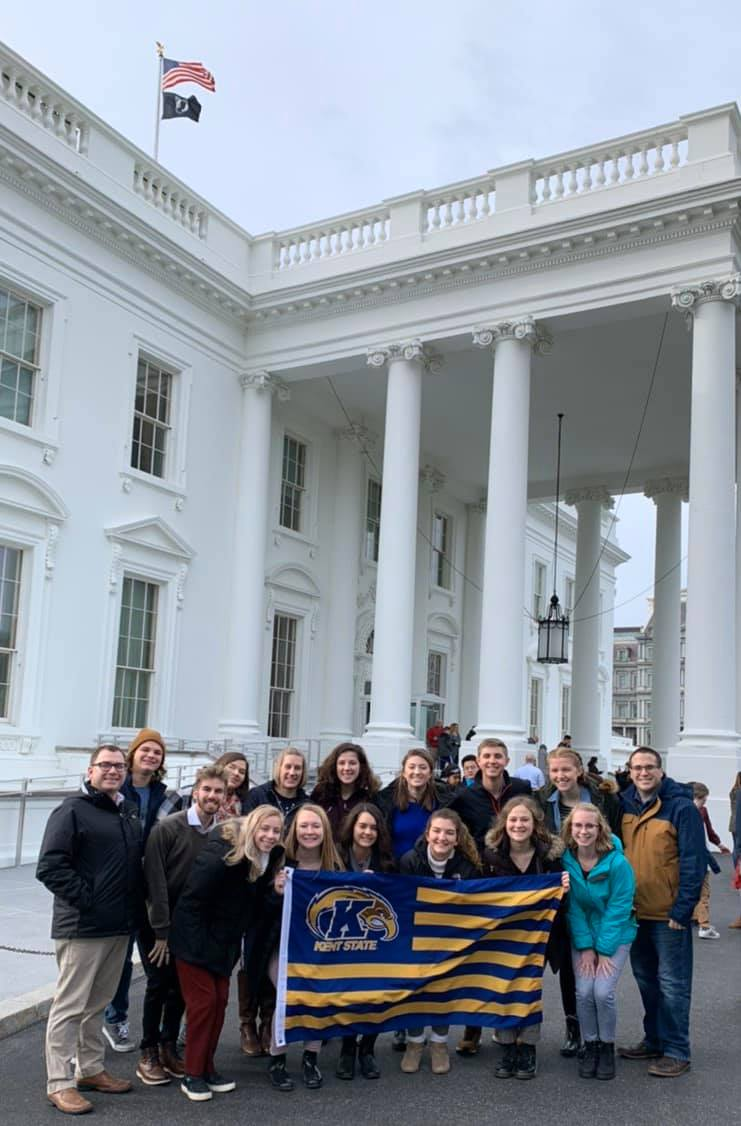 HLA at White House with Flag
