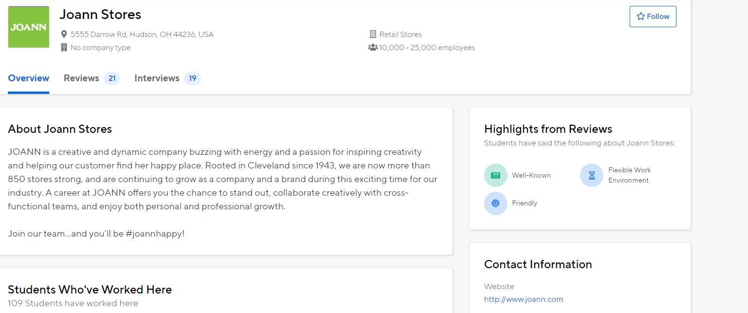 Screenshot of Handshake company page image