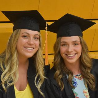Graduates are all smiles