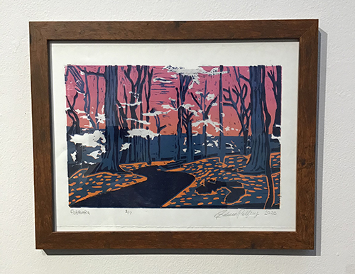 "Honorable Mention - Becca Treloar- Pelfrey, ""February,"" relief print, Undergraduate"
