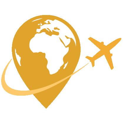Plane Circling Globe
