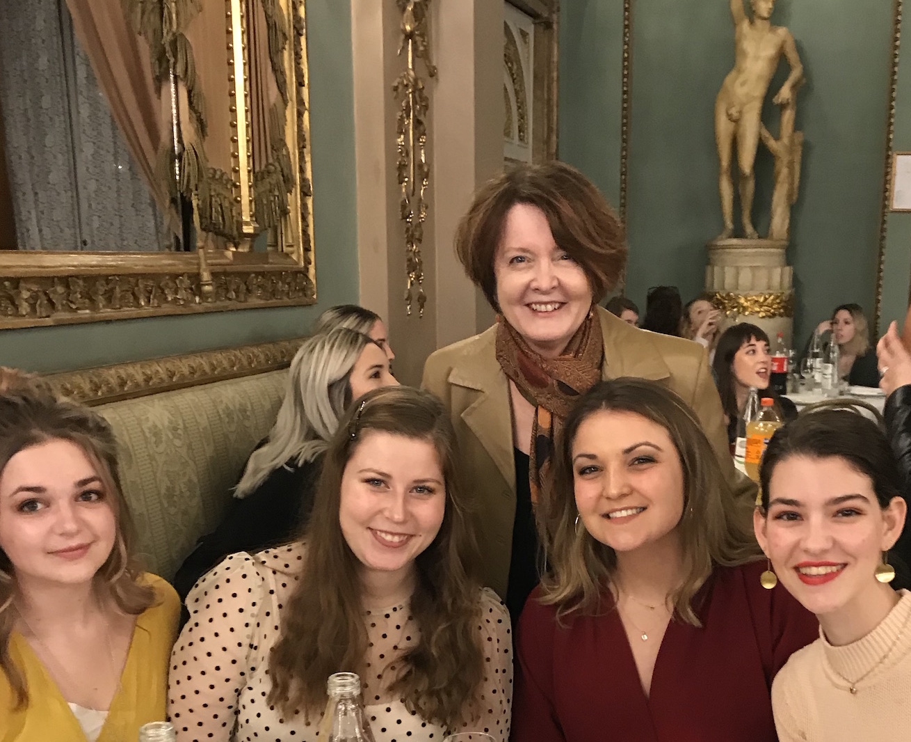 Laura Moll with students in Florence