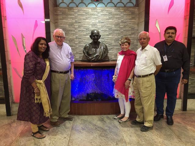 Picture of David and Janet Dix, with Prabha Nari, and Shri Sha