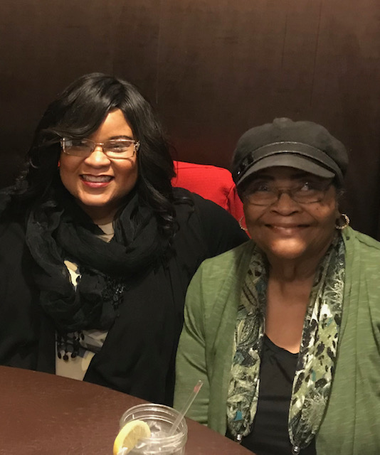 Shenell Hinton, BSN '95, RN, CRRN, CCM, (left) with her mother, Frankie Montgomery.