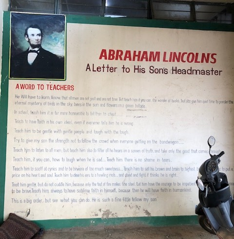 Picture of Abraham Lincolns's letter to his son's headmaster