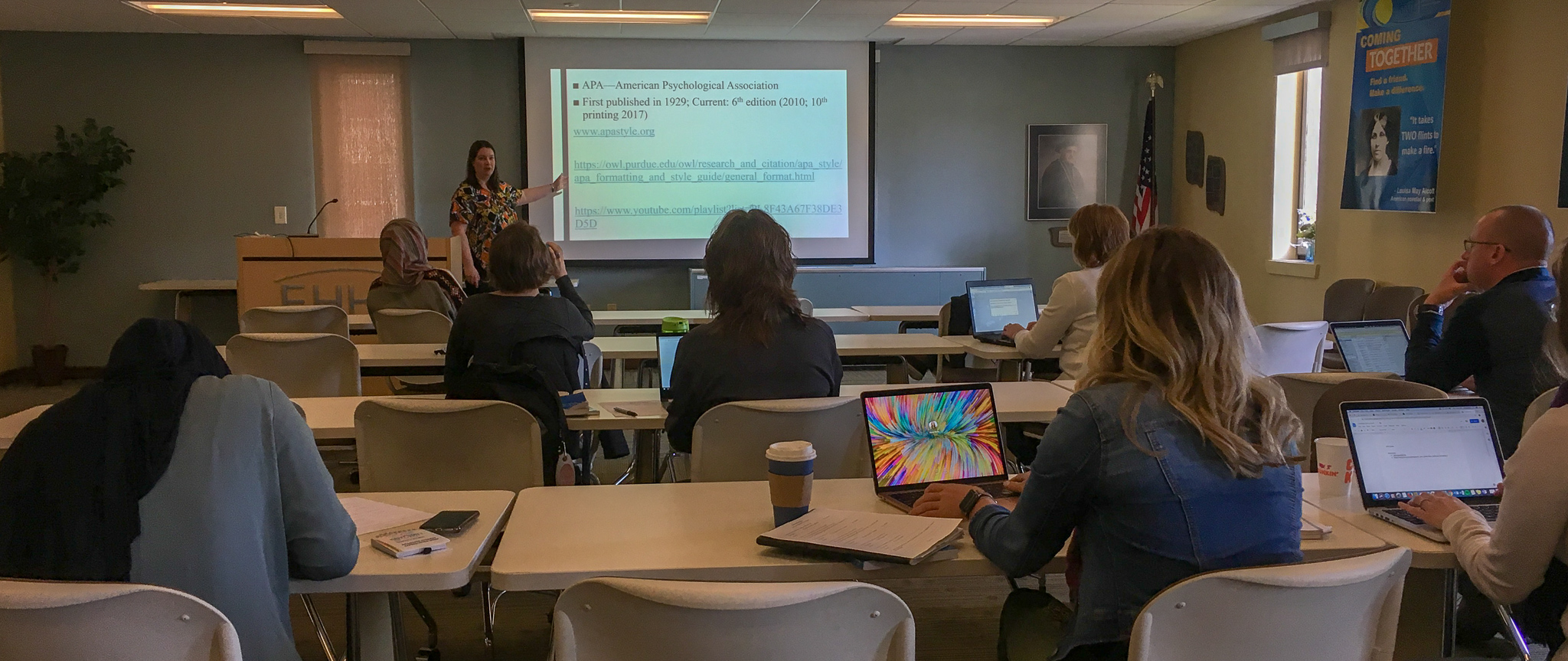 """Sarah Kiepper hosted """"So you think you can do APA?"""" breakout session at Spring 2019 Doctoral Forum Retreat."""