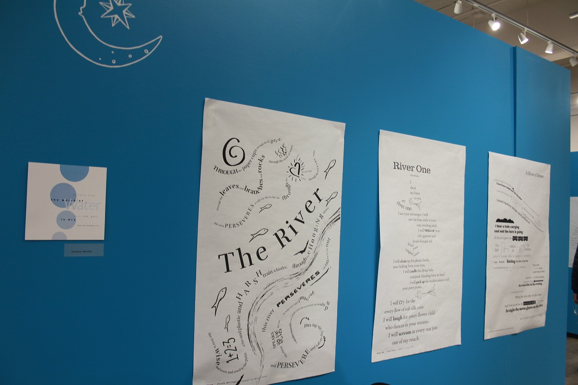Gallery shot of Concrete Poetry Gallery Opening