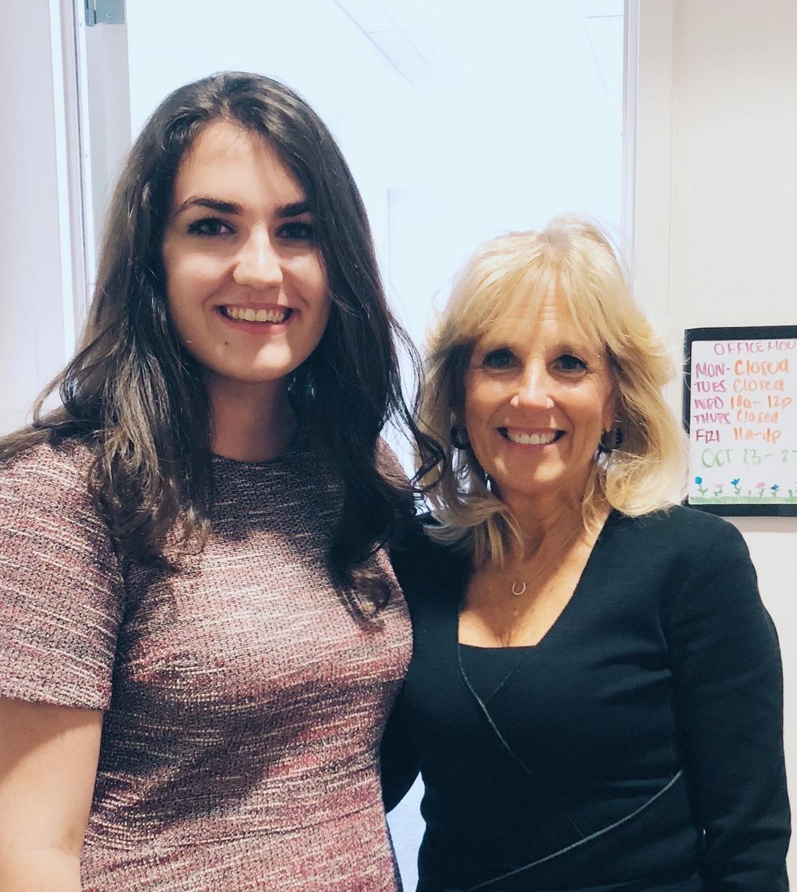 Photo of Brenna Parker with Dr. Jill Biden