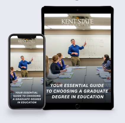 Guide to Graduate Degree on tablet and mobile