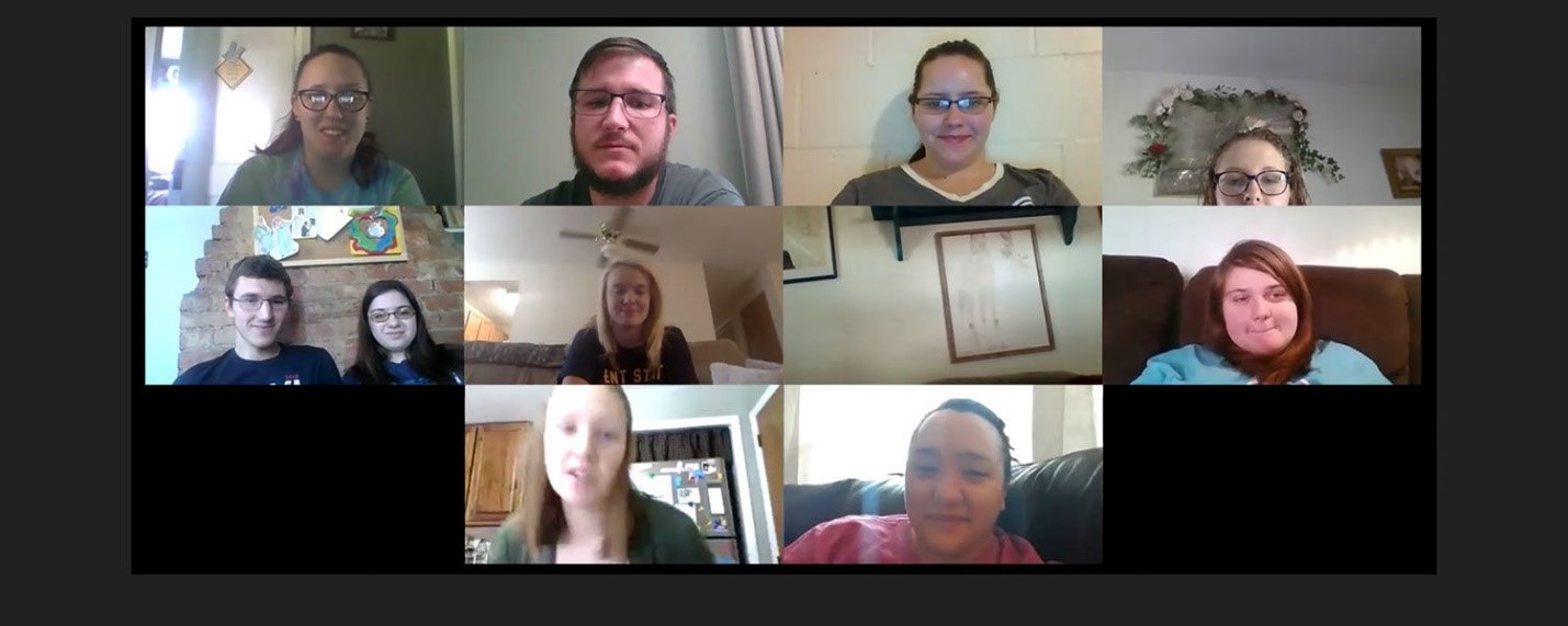 """Rural Scholars mentors keep in touch with remote meetings that """"zoom"""" into their personal home offices."""