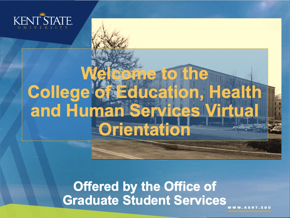 Welcome to the College of EHHS Virtual Orientation