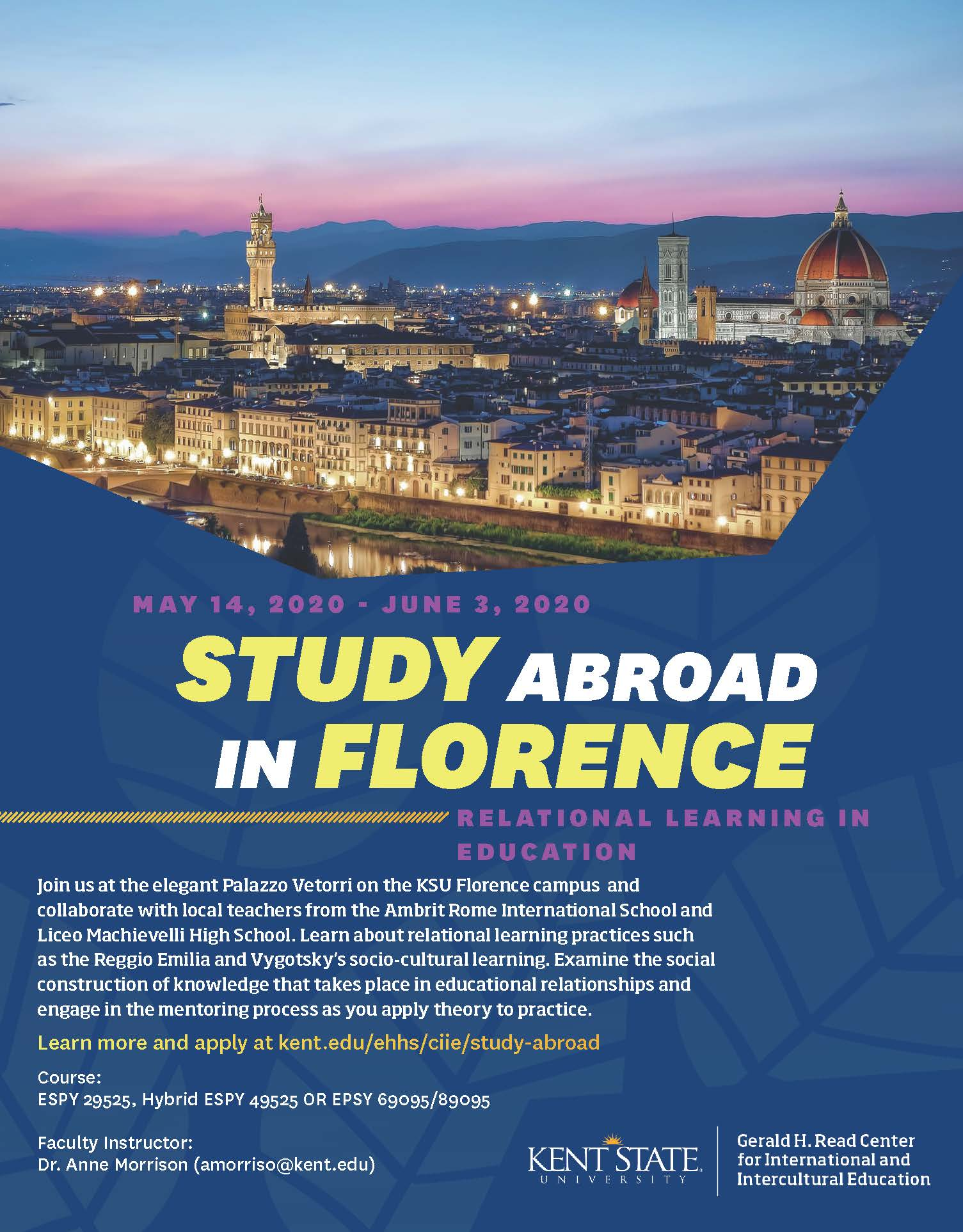 Study Abroad in Florence Flyer