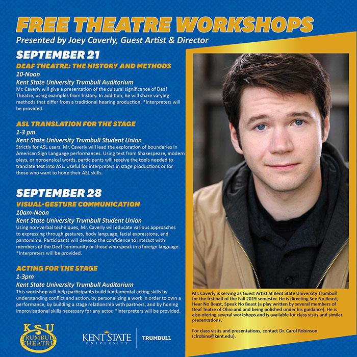 Free Theatre Workshop schedule