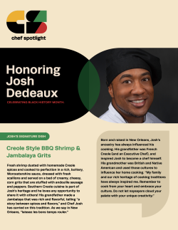 Chef Spotlight featuring Joshua DeDeaux