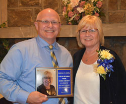 Dr. David Dees with Kathrine Giffin, who received the Lifetime Achievement Award.
