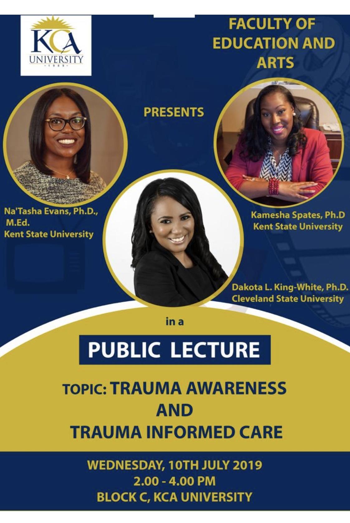 KCA University presentation flyer