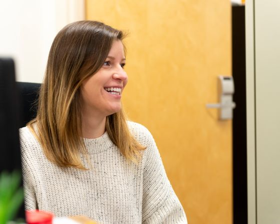 Kara Hultstrand, a first year doctoral student in clinical psychology, is part of Associate Professor Amy Sato's research team.