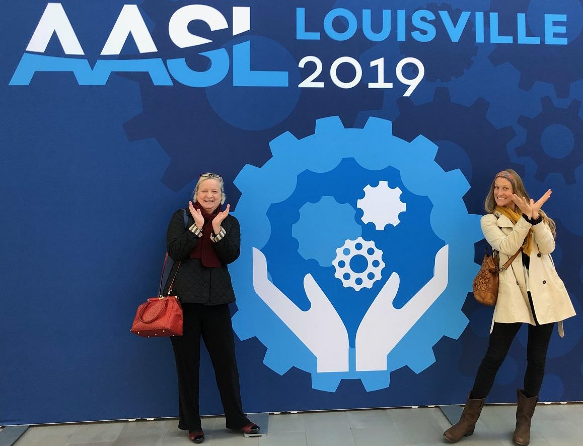 Dr. Gavigan and Dr. Garrison at AASL Louisville 2019 Conference