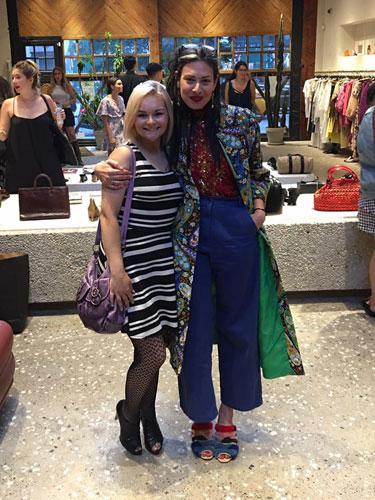"""Kendra Snatchko (left) with Stacy London from TLC's """"What Not to Wear"""""""