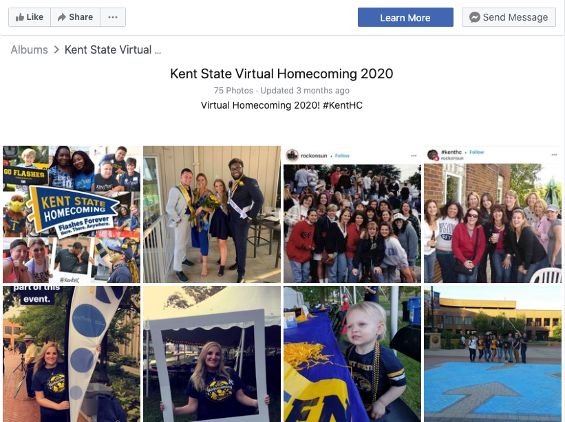 Photo of Virtual Homecoming 2020 Facebook Album