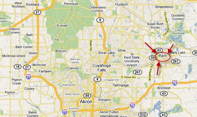 Northeast Ohio map