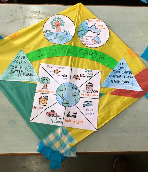 Picture of environmental awareness project Kite