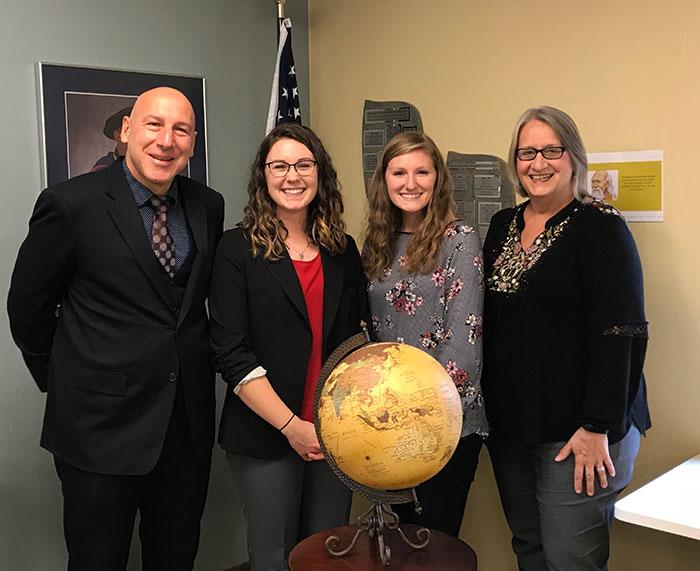 International Student Teachers with Principal Andreas Swoboda and Dr. Martha Lash