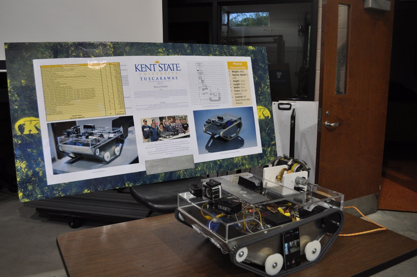 Engineering Technology Project Rescue Robot created by students