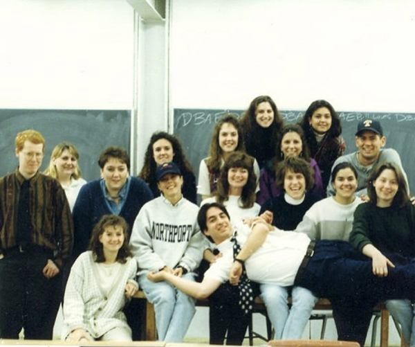 Students in a classroom - art education class at Kent State in the 90s