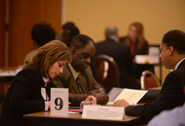Kent State's Division of Information Services met with nearly 40 regional businesses at an IT Supplier Diversity Matchmaker Event on Oct. 18 in the Kent Student Center.
