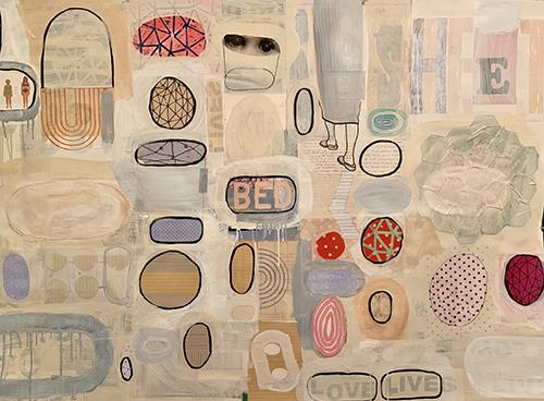 Liz Maugans, Girl-nica, 2019, collage