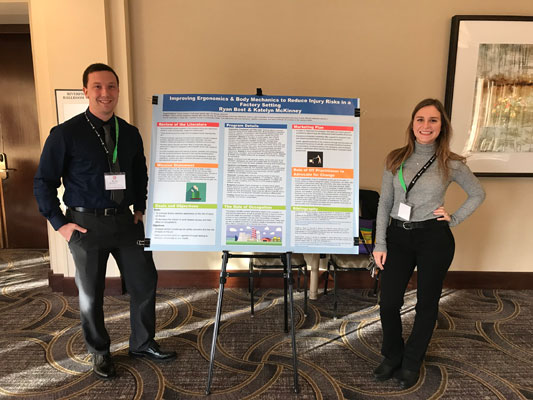 OTA students Ryan Bost and Katelyn McKinney presented their community-based project at the Ohio Occupational Therapy Association's state conference